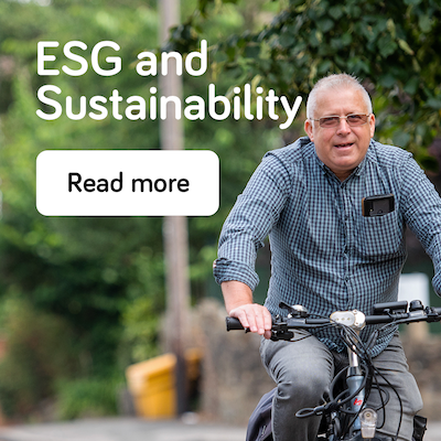 ESG and sustainability - annual report 2021 - landing page