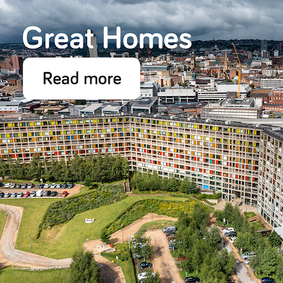 Great homes - annual report 2021 - landing page