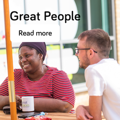 Great people - annual report 2021 - landing page