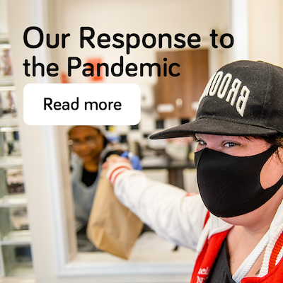 Response to the pandemic - annual report 2021 - landing page